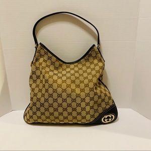 Gucci Monogram New Britt Hobo Bag Medium